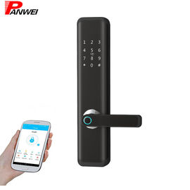China LED Fingerprint Scanner Door Lock Wake - Up Screen APP Remote Control For Airbnb Apartment supplier