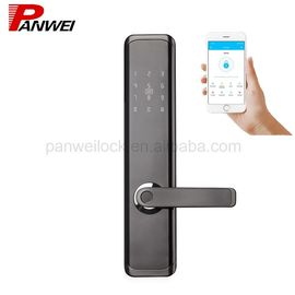 China TT Lock Fingerprint Scanner Door Lock Support Password Card Key Open / APP Lock supplier
