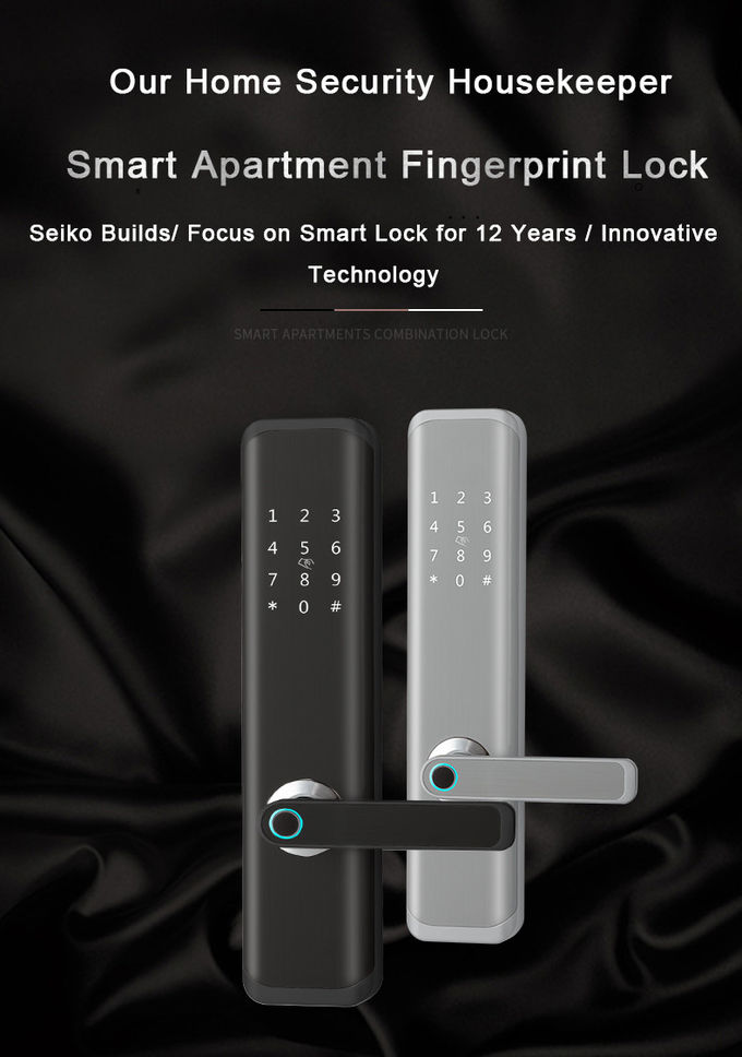 LED Fingerprint Scanner Door Lock Wake - Up Screen APP Remote Control For Airbnb Apartment