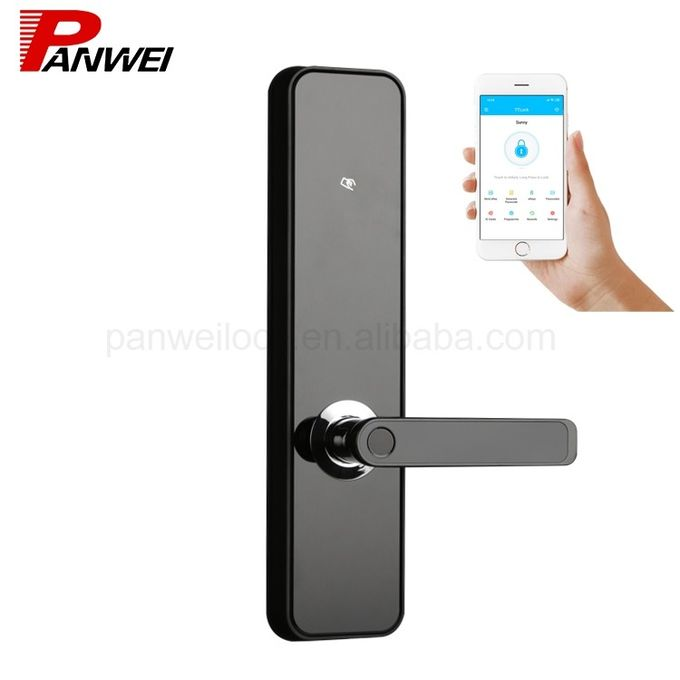 Aluminum Alloy Digital Fingerprint Lock APP Lock For Remote Control