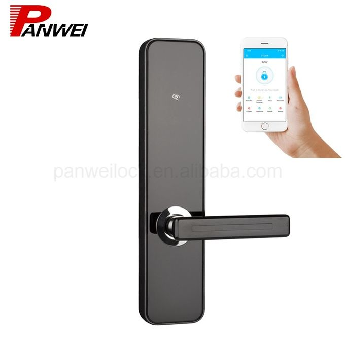 High Security Digital Keypad Door Lock Support Passcode Card And Key Open